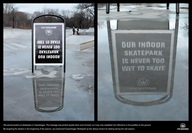 skate park mirrored poster