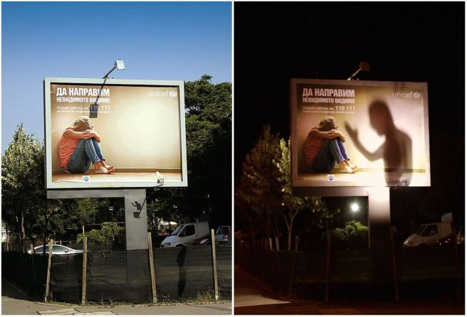 unicef making the invisible visible billboard