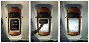 Fiat Idea Plane Window Decal